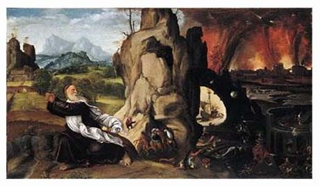 torment of saint anthony From kimbell art museum, michelangelo buonarroti, the torment of saint anthony (ca 1487), tempera and oil on panel, 18 1/2 × 13 3/4 in.